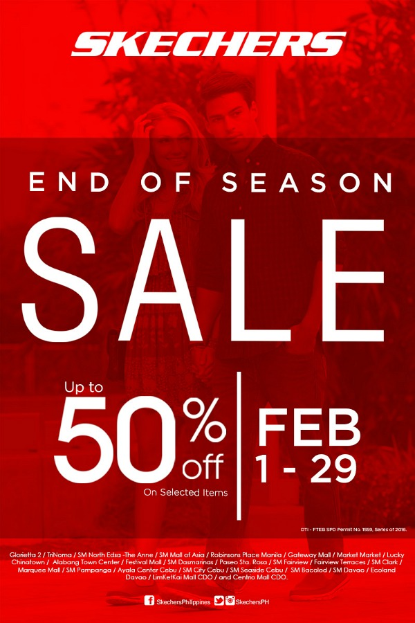 Skechers End of Season Sale Poster