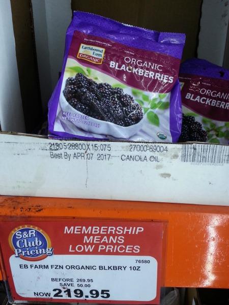 SnR Feb 2016 Earthbound Farms Frozen Organic Blackberries