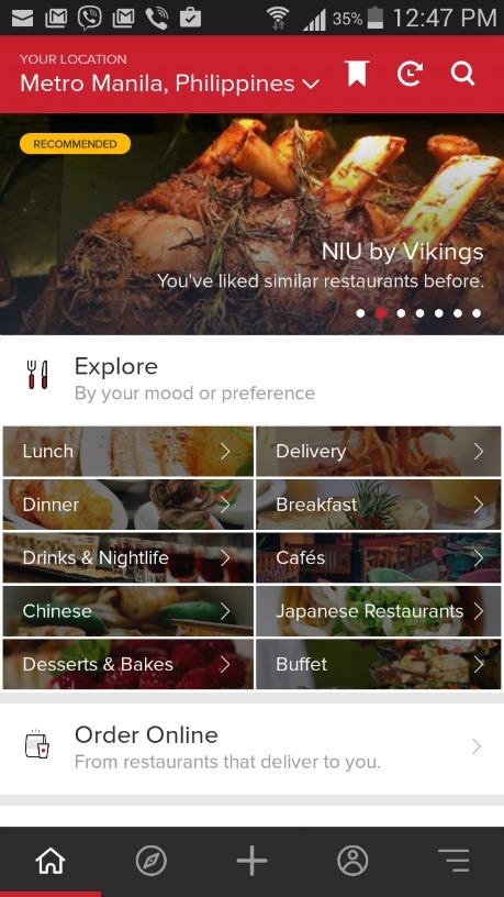 Zomato Online Ordering Screenshots 1