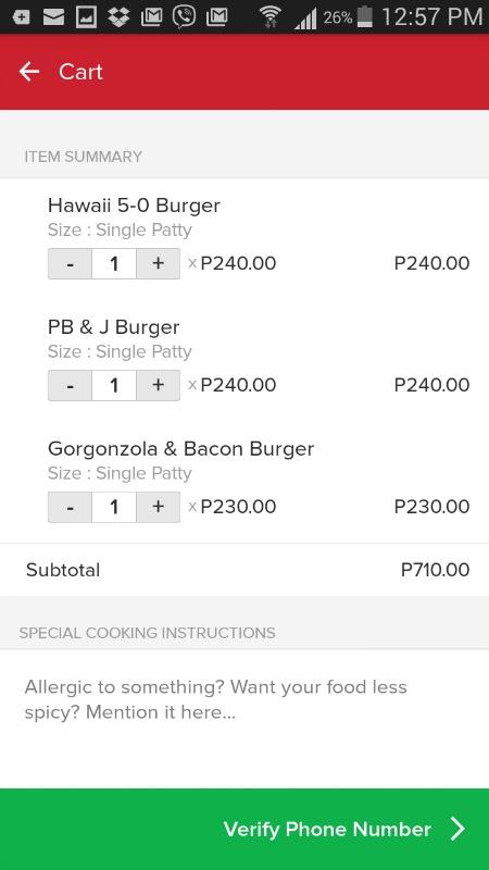 Zomato Online Ordering Screenshots 5 Burger Company Cart