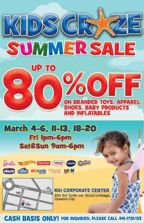 Kids Craze Summer Sale March 2016