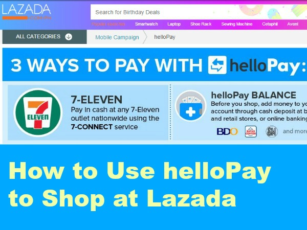How to Use helloPay to Shop at Lazada