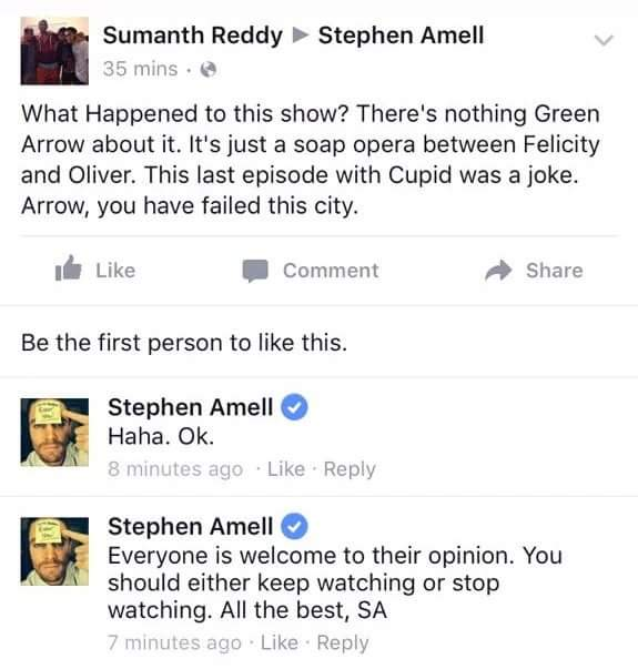 Arrow Olicity Stephen Amell