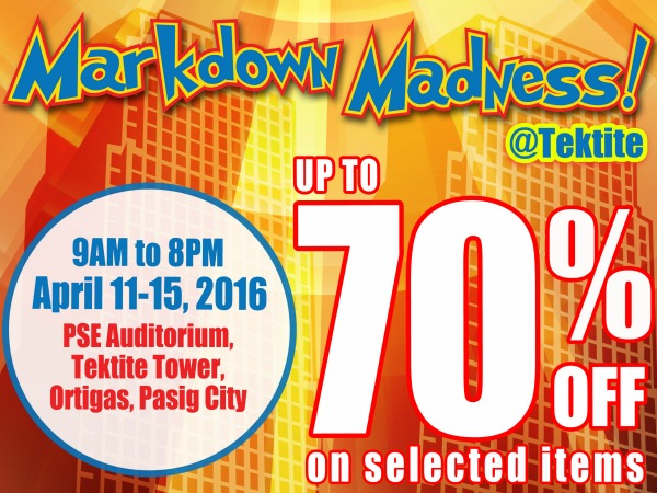 Markdown Madness SHOE SALE on April 11-15!