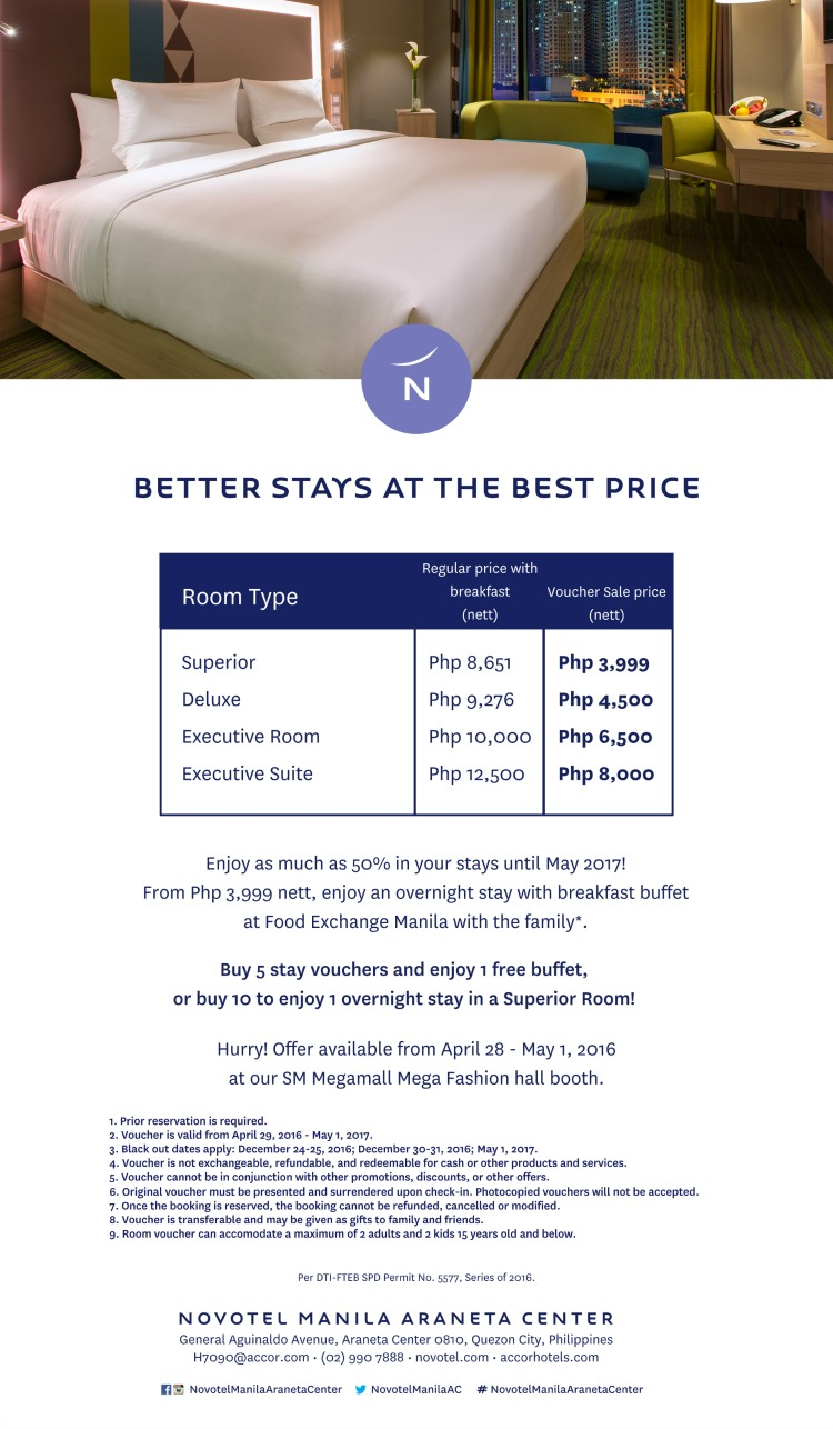 Novotel Poster Overnight Promo 3999 Only