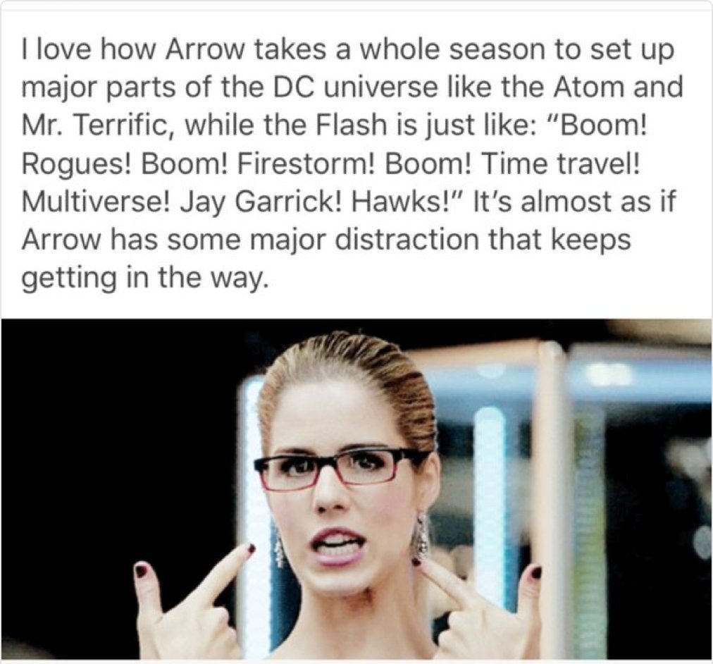 Olicity Distracts Arrow