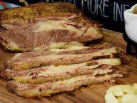 The Round Table Roast Beef Slab Sliced