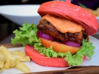 Quims Cake Red Hot Dory Burger