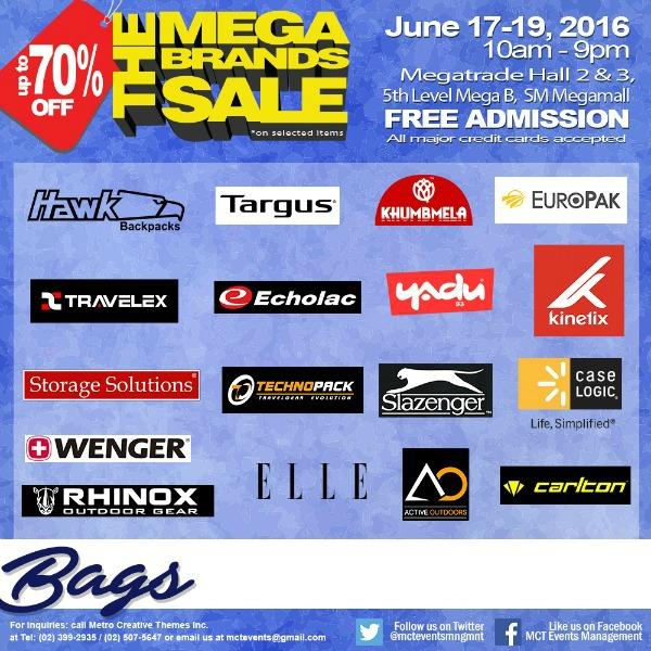 15th MegaBrands Sale Poster Bags