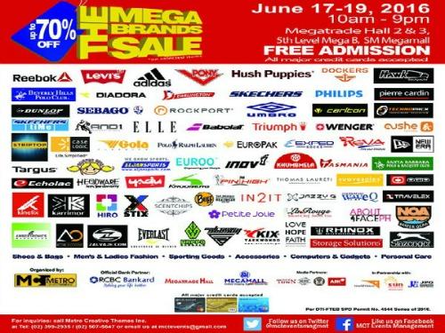 15th MegaBrands Sale – June 17 – 19