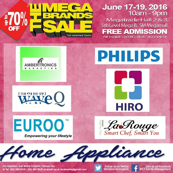 15th MegaBrands Sale Poster Home Appliance