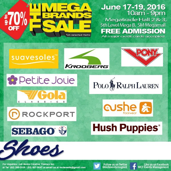 15th MegaBrands Sale Poster Shoes