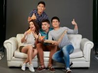 Greenwich Endorsers L-R (Yassi Pressman, Robi Domingo, Andre Paras, Jerome Ponce