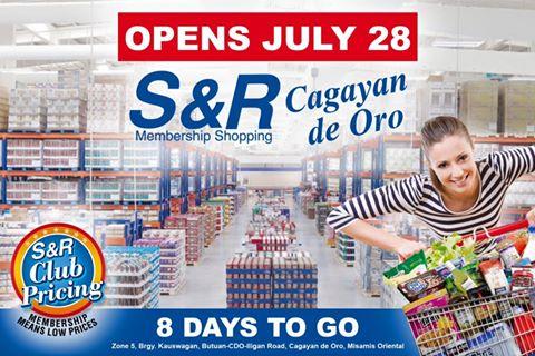 S&R Membership Shopping Opens in Cagayan de Oro on July 28!