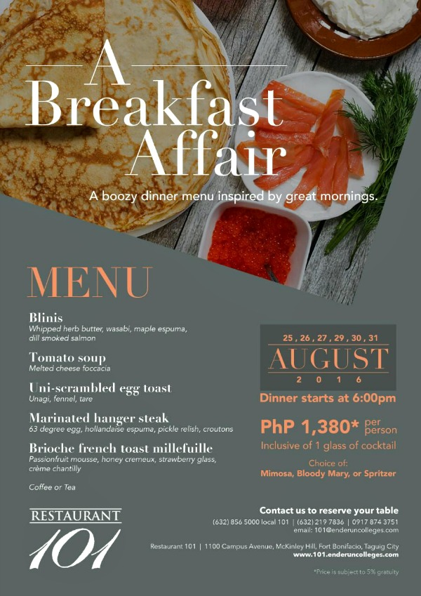 A Breakfast Affair Menu 600px