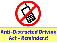 Anti Distracted Driving Act Reminders