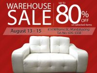 Blims Warehouse Sale August 13