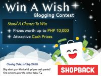 Shopback Win a Wish Contest
