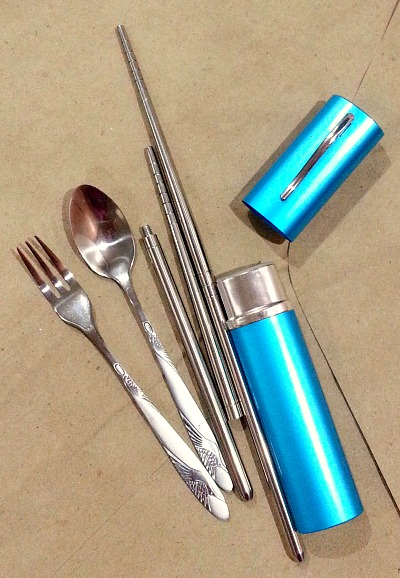 Travel Set Utensils Spoon Fork Chopsticks