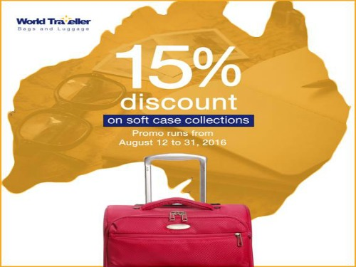 15% OFF on World Traveller Soft Case Luggage