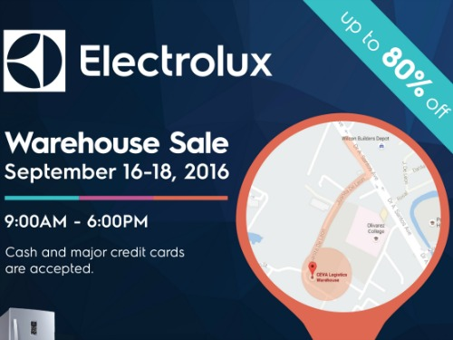 UPDATED! Electrolux Warehouse Sale, Get Up to 80% OFF!