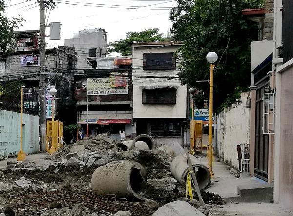 Manila Flood Project Digging Street