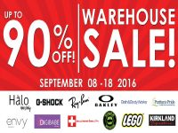 Halo Warehouse Sale Sept 8 2016