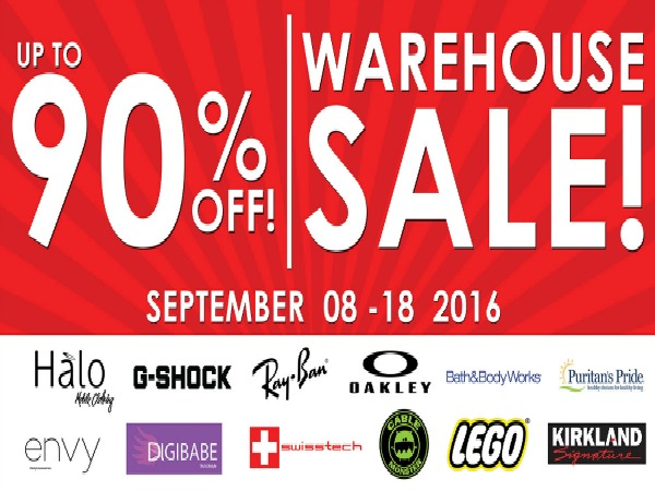 Halo Warehouse Sale + G-Shock, Bath&BodyWorks, Etc