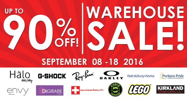 Halo Warehouse Sale Sept 8 2016 Front Banner