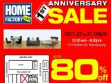 Home Factory Outlet 1st Year Sale STARTS TOMORROW!