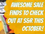 Great Deal Finds at S&R This October!