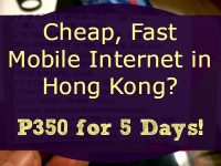 Cheap Fast Mobile Internet Hong Kong