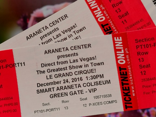 Le Grand Cirque Araneta Tickets