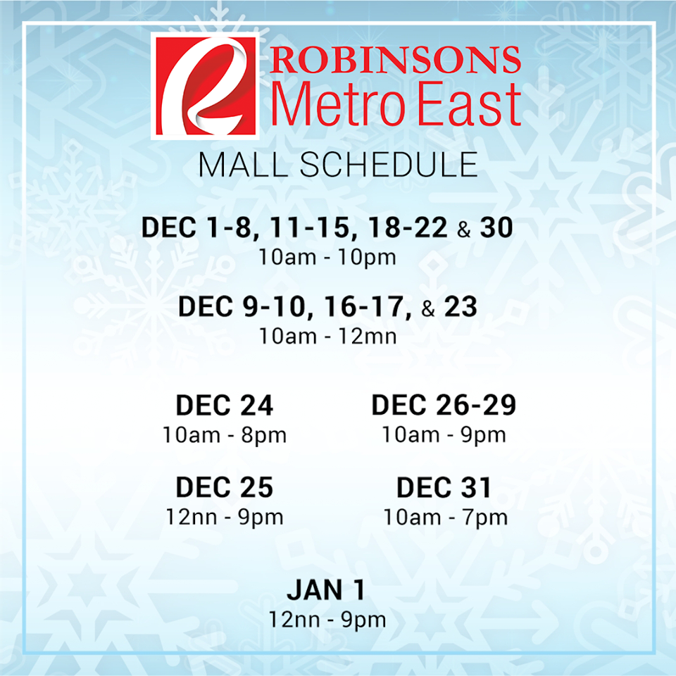 robisons-metro-east-mall-hours-2016