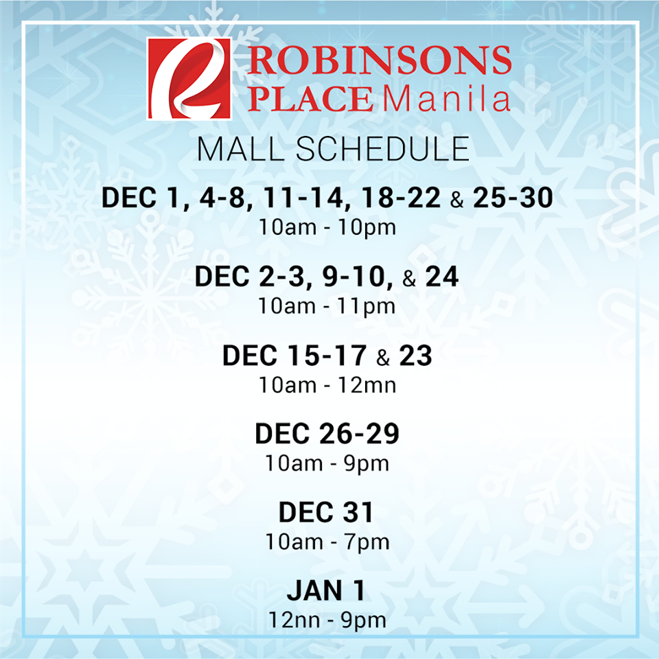 robisons-place-manila-mall-hours-2016