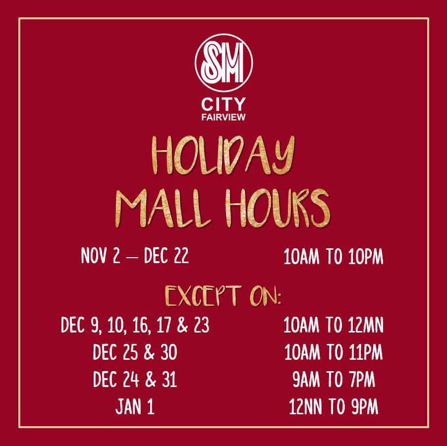 sm-fairview-holiday-mall-hours