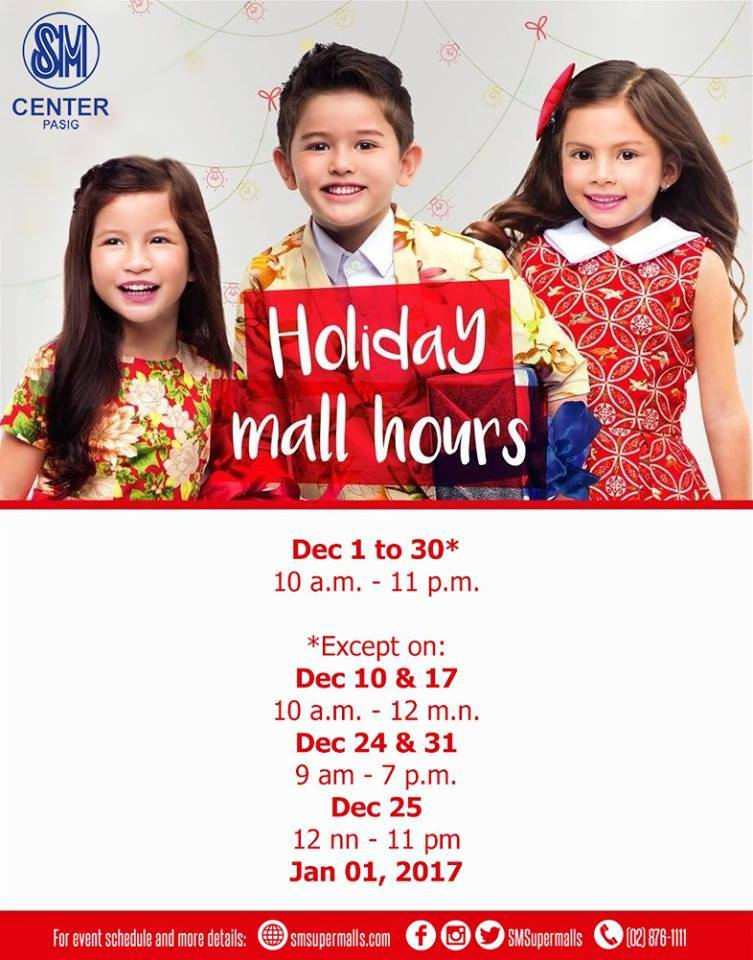 sm-pasig-holiday-mall-hours