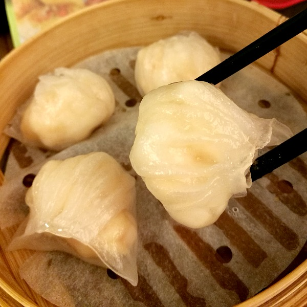 Tim Ho Wan Hakaw Close Up Shrimp Dumplings