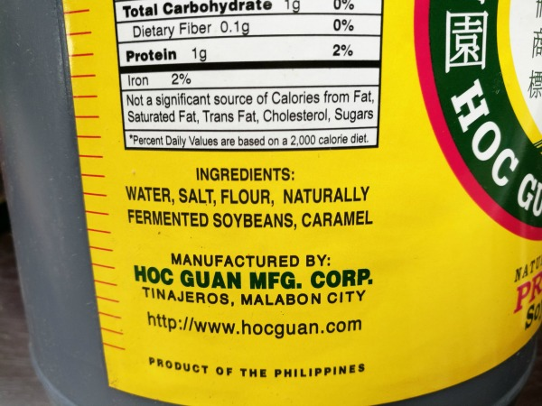 Coconut Brand Soy Sauce Ingredients
