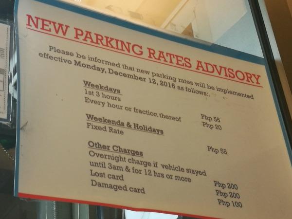 Shangri la Plaza Parking Rates