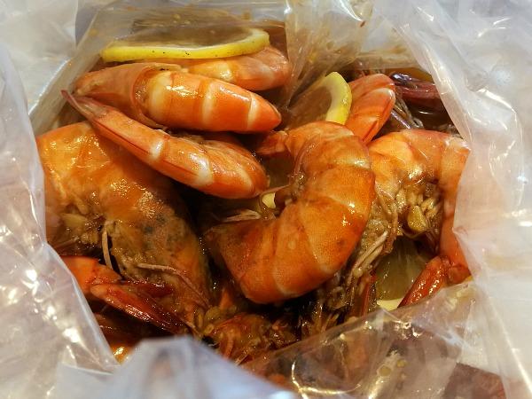 Blue Posts Boiling Crabs Shrimps in Lemon Butter