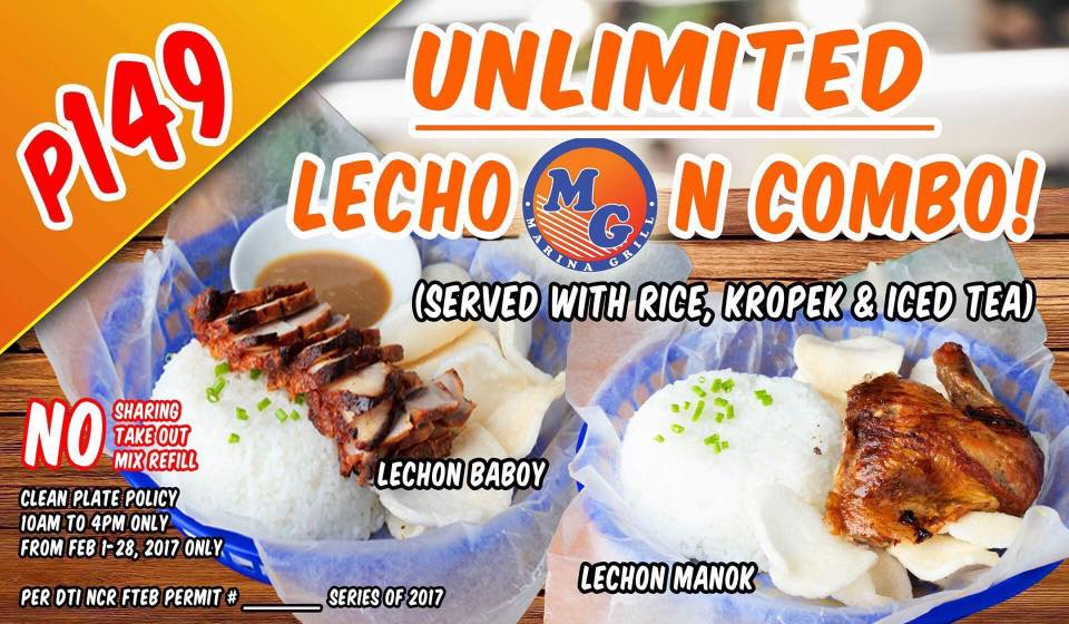 MG Marina Grill Unlimited Lechon Promo