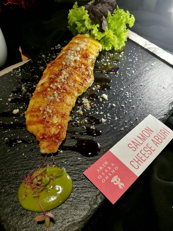 Osaka Ohsho Salmon Cheese Aburi