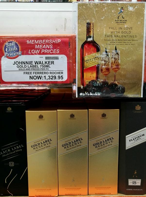 SnR Feb 2017 Johnnie Walker Gold Free Ferrero Rocher