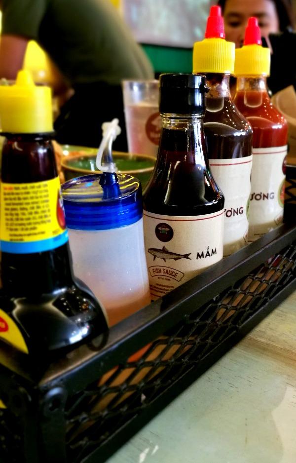 Annam Noodle Bar Condiments