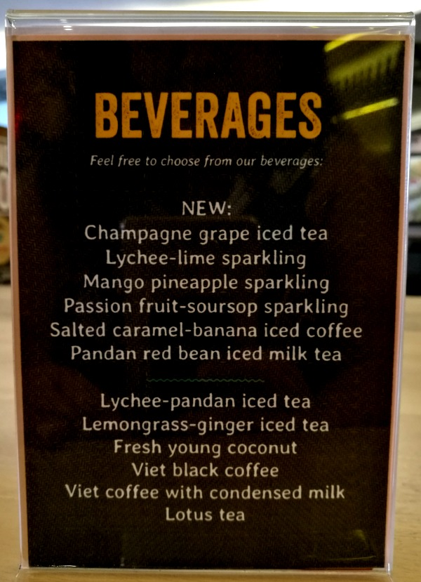 Annam Noodle Bar New Drinks