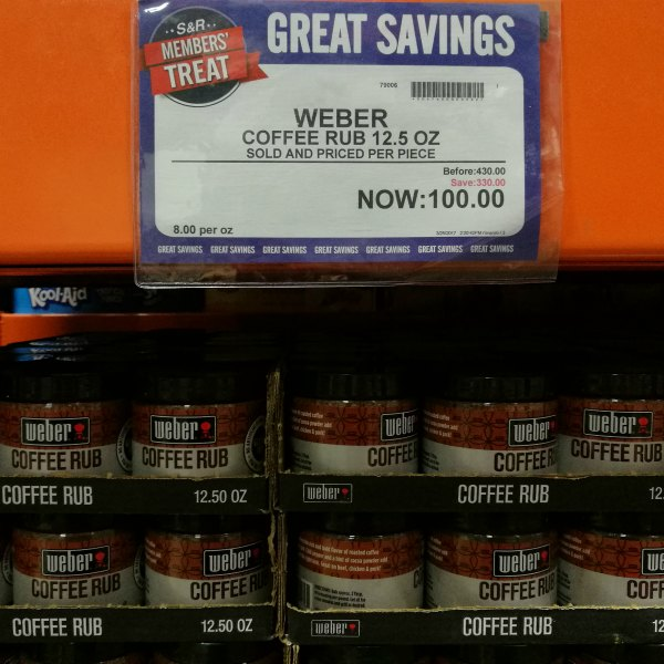 S&R Members Treat 2017 Weber Coffee Rub