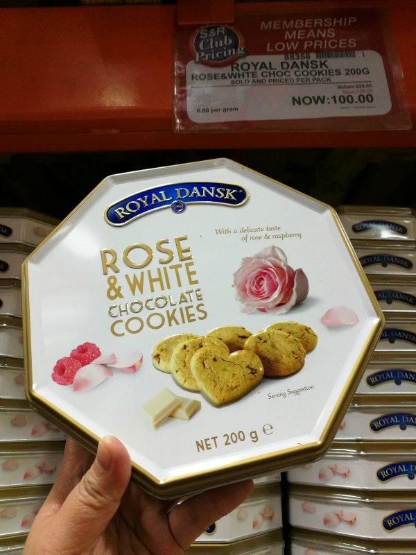 S&R Members Treat 2017 Royal Dansk Rose White Cookies
