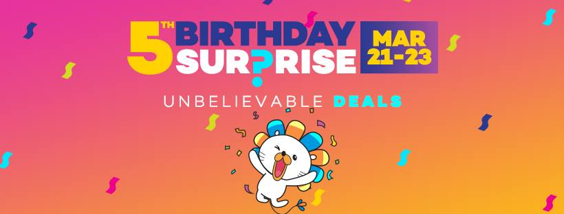 Lazada 5th Birthday Surprise