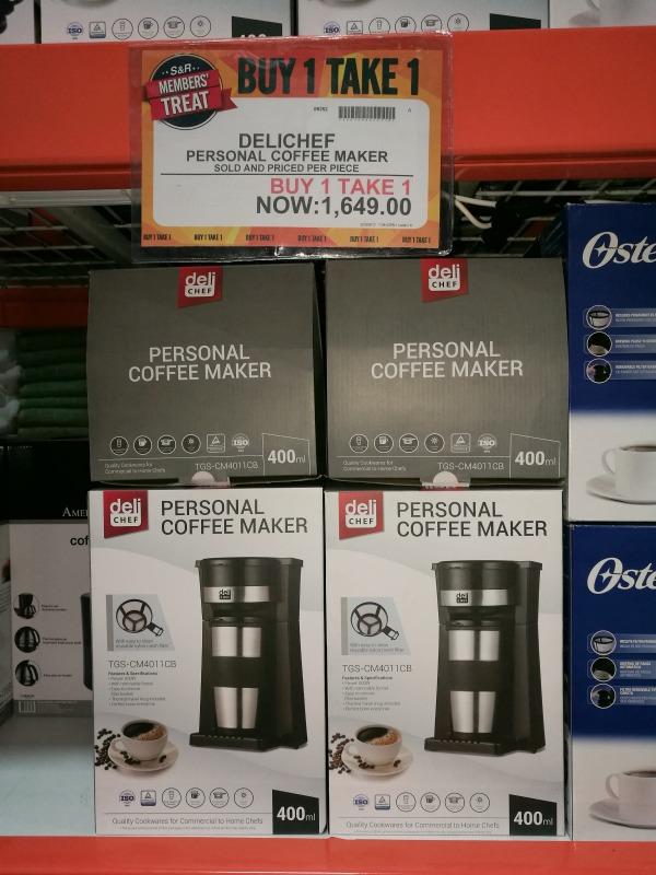 S&R Members Treat 2017 Personal Coffee Maker Buy 1 Take 1